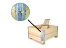实木围板箱